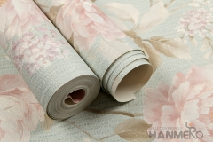 flowers pattern wallcovering